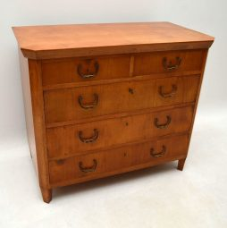 Antique Swedish Satin Birch Chest of Drawers