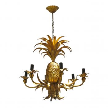 Italian gold pineapple chandelier