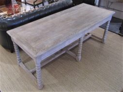 A bleached oak refectory table