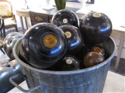 A collection of bowling balls