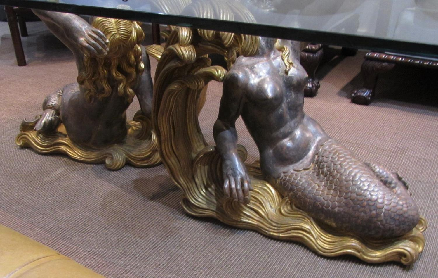 A mid century mermaid coffee table 10462 pic9 size3 for Mermaid coffee table