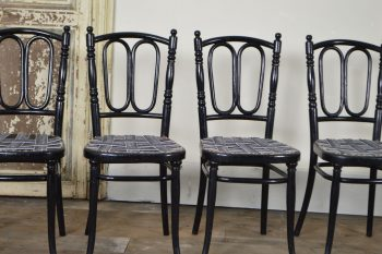 Set of 4 Bent wood Thonet chairs