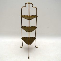 Antique Brass Cake Stand by Samuel Heath & Sons