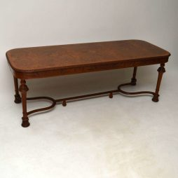 Large Antique Burr Walnut Dining Table