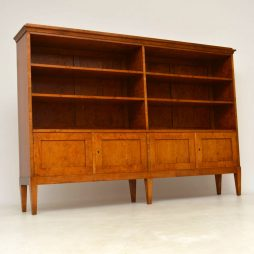 Antique Swedish Satin Birch Bookcase