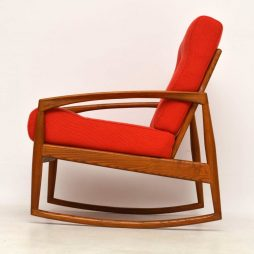 1960's Danish Vintage Paper Knife Rocking Armchair by Kai Kristiansen