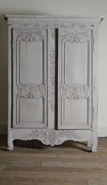 19th Century carved armoire