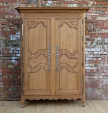 19th Century Bleached Oak Armoire