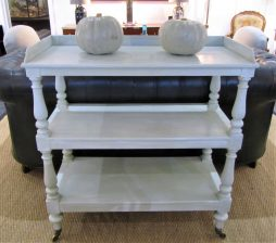 A Victorian three tier buffet trolley