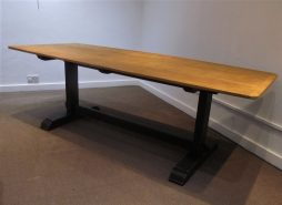 a 1930's schools refectory table