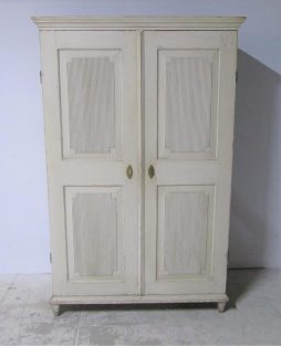 A painted early 19th century Gustavian Swedish fitted Armoire