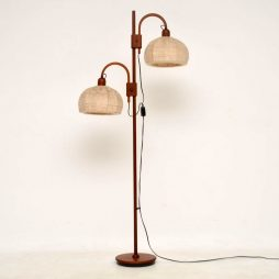 1960's Danish Teak Vintage Floor Lamp