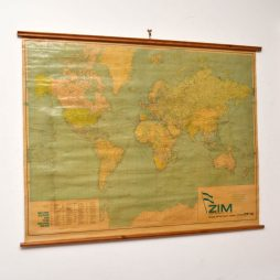 Vintage World Map by George Phillip & Son – 1964
