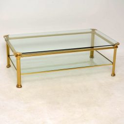1970's Vintage Italian Brass Coffee Table Signed 'Mara'