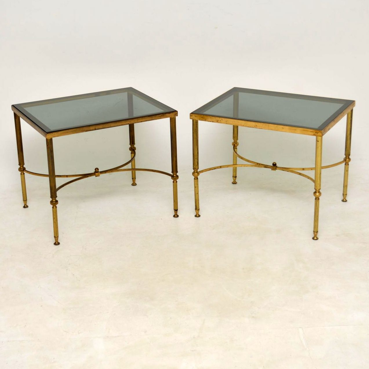 1950 S Pair Of Vintage Brass Side Tables Interior Boutiques