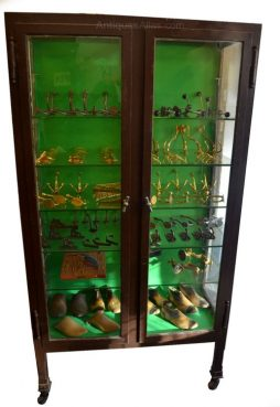 1920s Metal Pharmacy Medical Cabinet