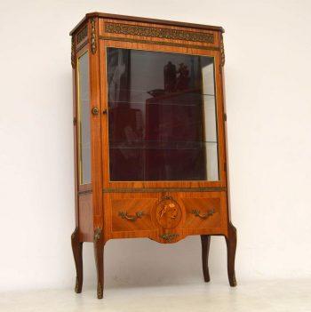 Antique Swedish Kingwood Display Cabinet
