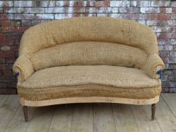 1940s French Sofa For Re-upholstery