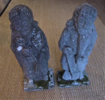 A pair of church niche saints