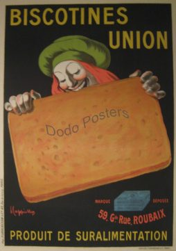 Antique Biscotines Union Poster