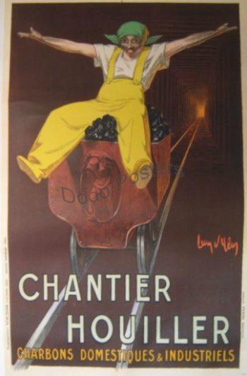 Antique Chantier Houiller Poster
