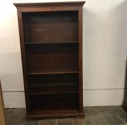Antique oak book shelf, shop display cabinet