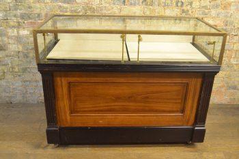 1930s Brass Mahogany Counter