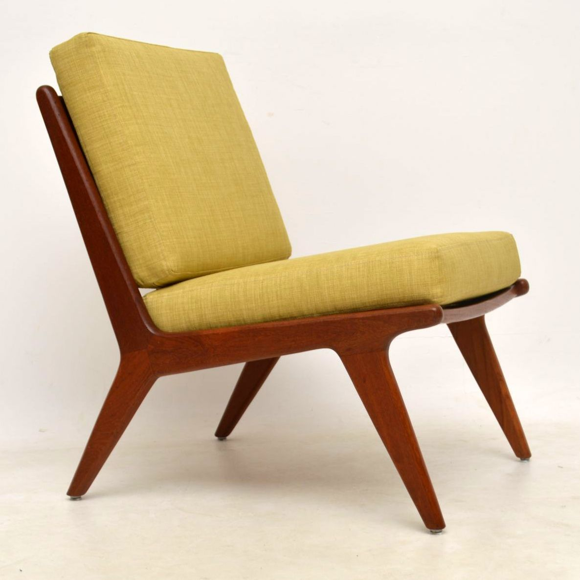 1960's Danish Teak Vintage Slipper Chair - 1960's Danish Teak Vintage Slipper Chair Interior Boutiques