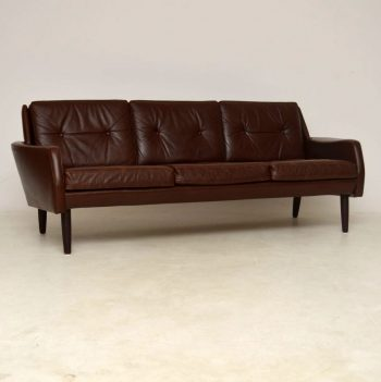 1960's Danish Vintage Leather Sofa