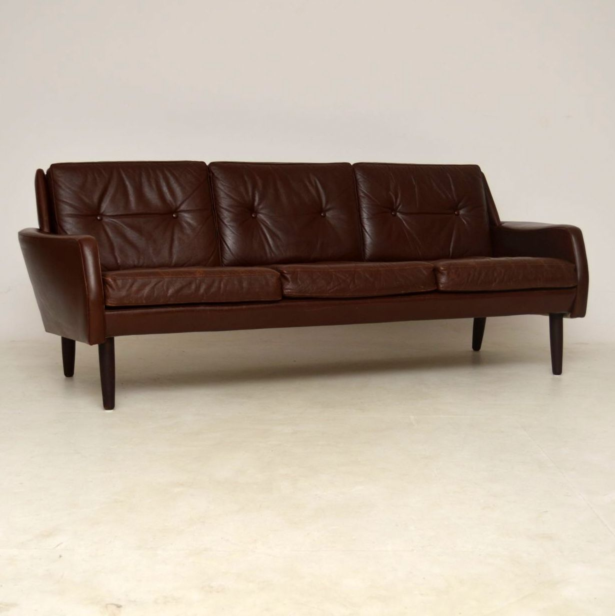 1960 S Danish Vintage Leather Sofa Interior Boutiques Antiques