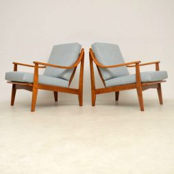 1960's Pair of Danish Vintage Armchairs