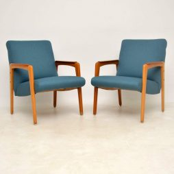 1950's Pair of Swedish Teak Vintage Armchairs