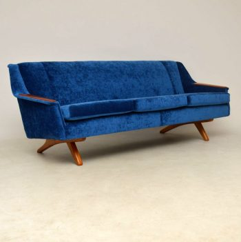 1960's Vintage Sofa by Illum Wikkelso for Westnofa