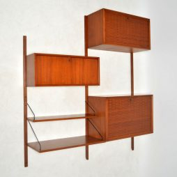 1960's Vintage Danish Teak Wall Unit by Poul Cadovius