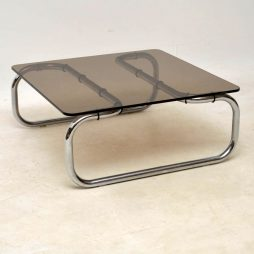 1960's Chrome & Glass Vintage Coffee Table by Rodney Kinsman