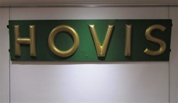 A toleware Hovis Bread sign