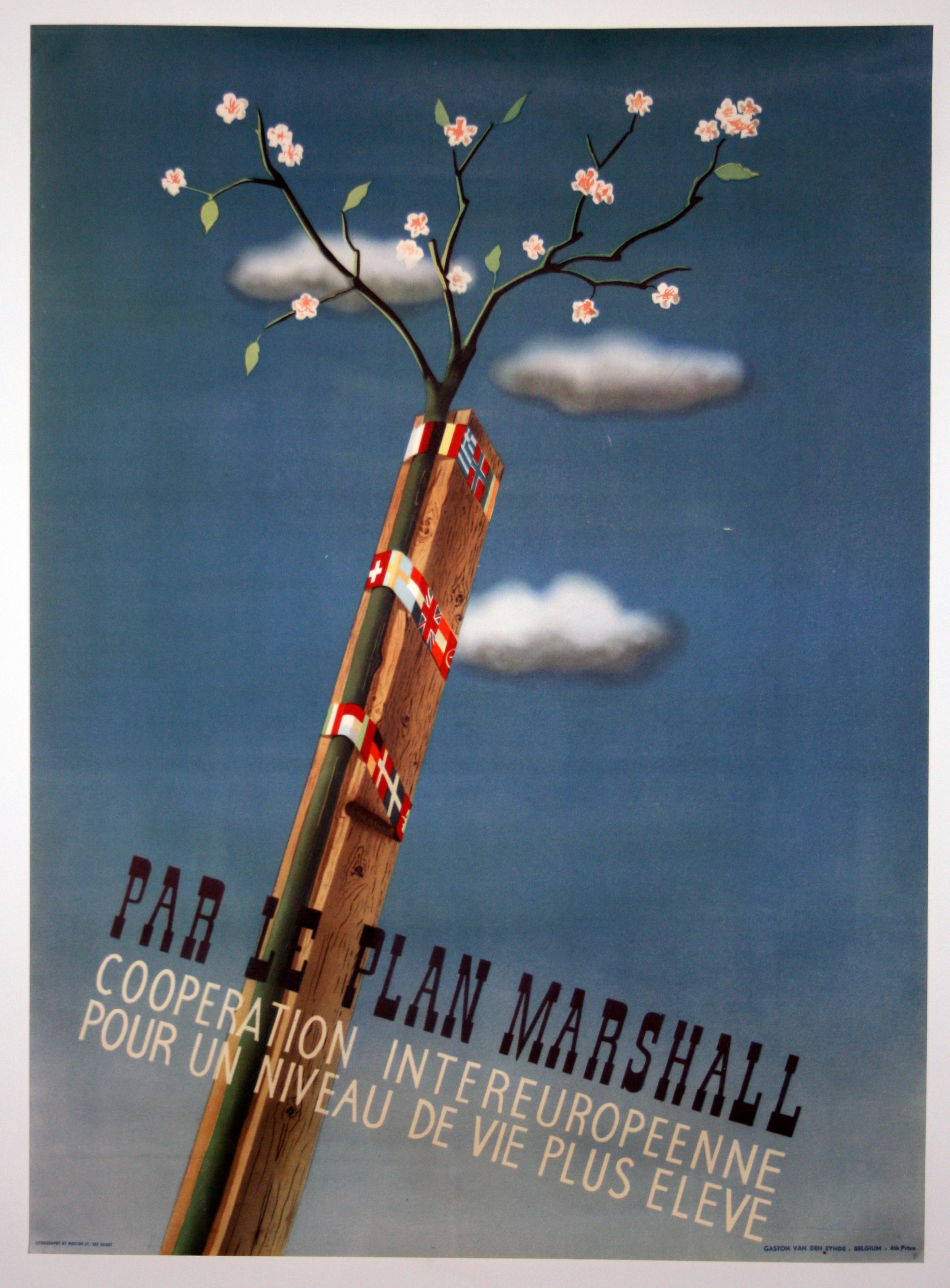 A rare original vintage marshall plan par le plan - The marshall plan was designed to ...