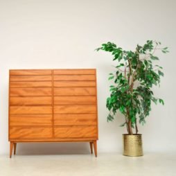 1950's Swedish Satin Wood Chest of Drawers