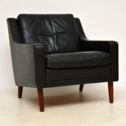 1960's Vintage Danish Leather Armchair