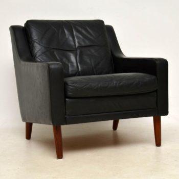 1960's Vintage Danish Leather Armchair