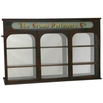 Victorian Antique 19th Century Three Door Pharmacy Cabinet