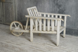 Wheel barrow garden chair