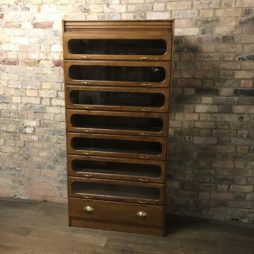 Big oak drawer haberdashery cabinet