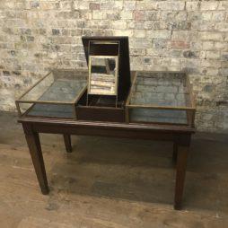Brass Jewellery Shop Counter Cabinet on Legs