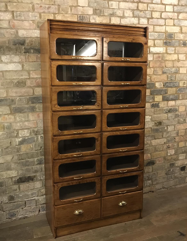 Oak Shoe Storage Haberdashery Cabinet