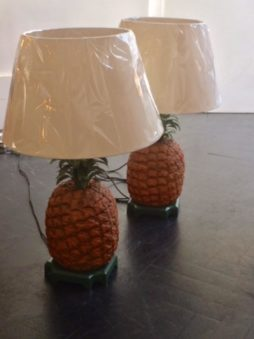 Pair of Mid-Century Pineapple Lamps