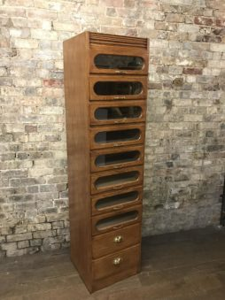 Bespoke single oak haberdashery cabinet