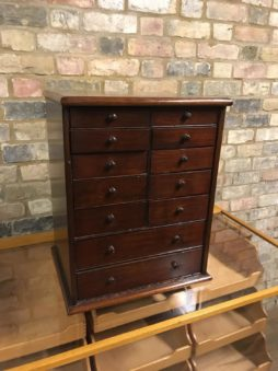 Victorian Mahogany Pair Of Small Chest Of Drawers