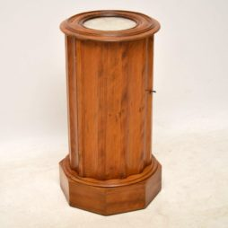 Antique Victorian Satin Wood Marble Top Pot Cupboard