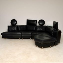 1970's Vintage Leather Modular Sofa by Rolf Benz